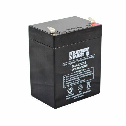 12 Volt 2.9 Ah Sealed Lead Acid Rechargeable Battery [SLA-12V2-9]