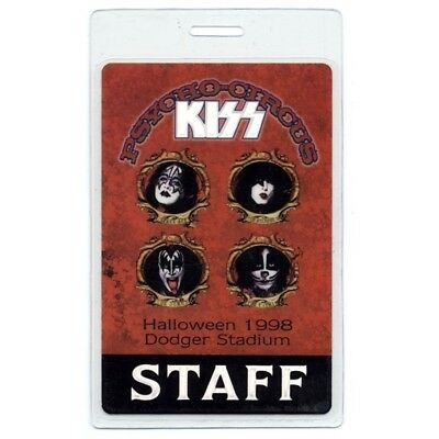 Kiss 1998 Laminate Backstage Pass Psycho Circus Tour Smashing Pumpkins Version 2 - Psycho Pumpkin