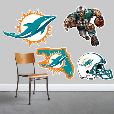 Miami Dolphins Wall Art 4 Piece Set Large Size------New in Box------