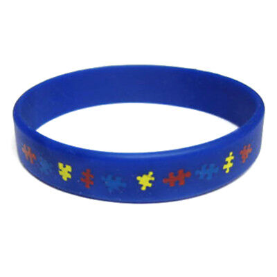 PinMart's Autism Awareness Youth Childrens Size Rubber Silicone (Autism Awareness Rubber Bracelet)