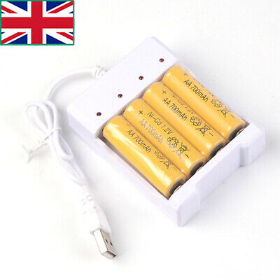 Universal USB Battery Charger for AA/AAA 4 Slots Intelligent Battery Charger