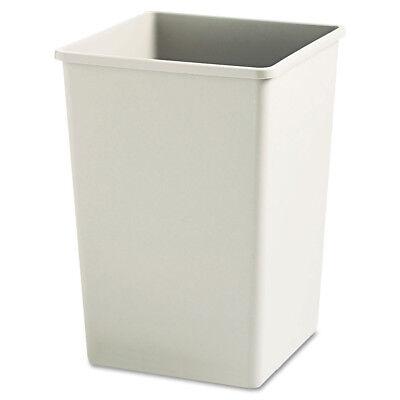 Rubbermaid Plaza Waste Container Rigid Liner Plastic 35gal Beige 395800BG NEW