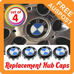 Set of 4x Replacement BMW Alloy Wheel Hub Caps - 68mm - Rim Badges Emblem