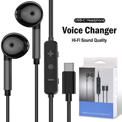 USB C Headphones 2021 HiFi Stereo Type C Earbuds With Mic+Volume Control- Black
