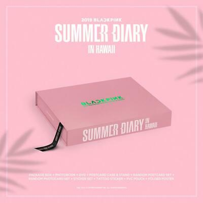 2019 BLACKPINK'S SUMMER DIARY IN HAWAII DVD+Foto Buch+Karte+Sticker+Poster+etc