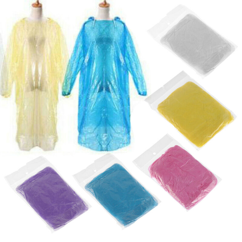beautiful in colour half price new york Details about Camping Emergency Waterproof Disposable Poncho Rainwear Rain  Coat Rain Gear