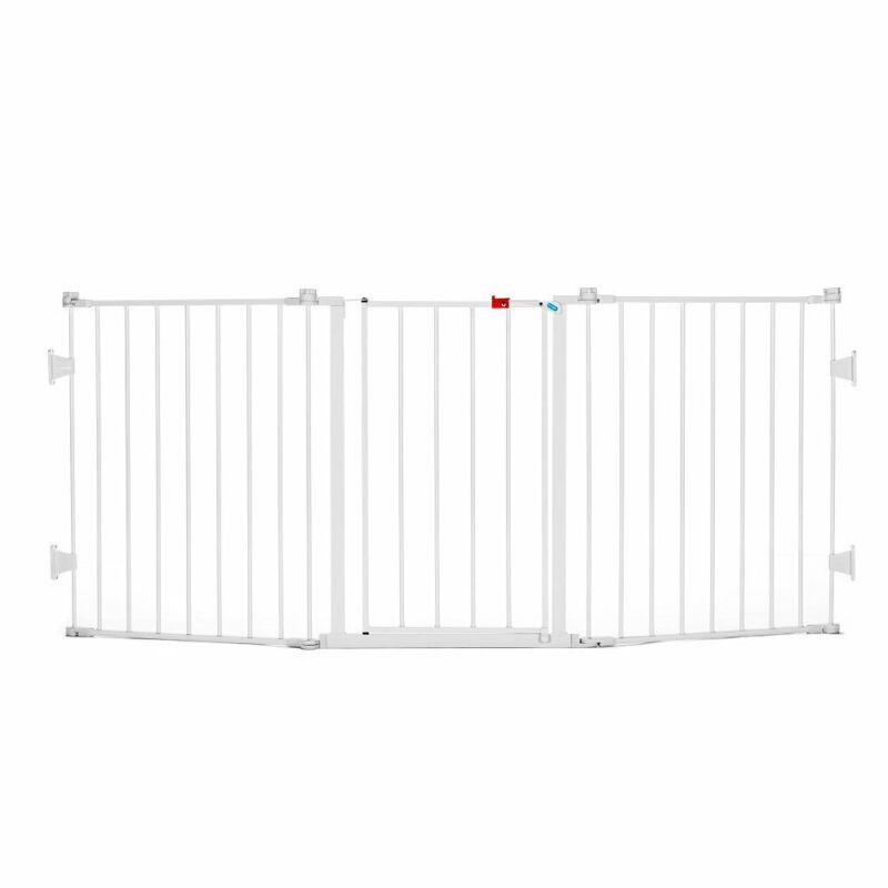 Regalo Flexi Gate Extra Wide Metal Walk Through Safety Baby Gate (Open Box)