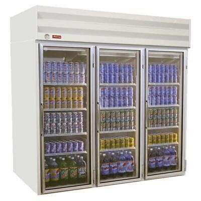 Howard-mccray Gf75-ff 78 Freezer Merchandiser 3 Section Glass Door Top Mount