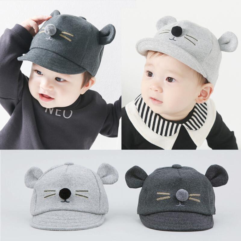Fashion Newborn Toddler Kids Baby Girl Boy Visor Baseball Cat Ear ... 023eeeed2de