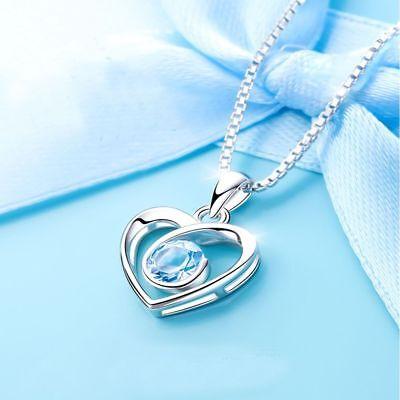 Diamond Romantic Fashion Heart For Crystal Gift Pendant Necklace Jewelry Women Diamond Heart Fashion Pendant