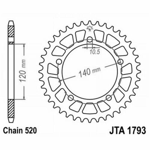 Zahnrad Aluminium 7075T6 Jta 1793 z42 Suzuki 1000 GSX R