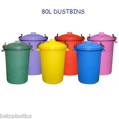 80/85 LITRE GARDEN/HOUSE/DUSTBIN/BIN PICK A COLOUR.
