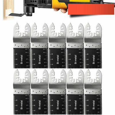 10x 34mm Oscillating Multi Tool Saw Blades Carbon Steel Cutter Diy Bi-metal Fast