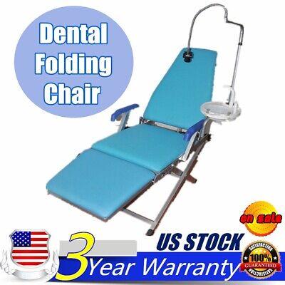 Dental Portable Folding Chair Unit W Water Supply System W Cuspidor Tray Led