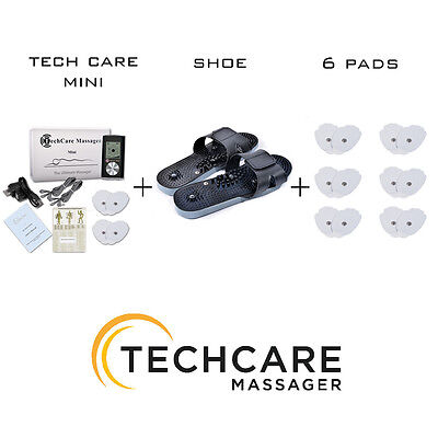 Mini Tens Massager Unit Set + 6 Extra Pads + Shoes Pain S...