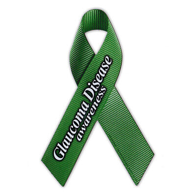 Magnetic Bumper Sticker   Glaucoma Disease Support Ribbon   Awareness Magnet