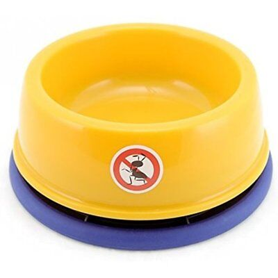 """DYL NO-ANT PET Bowl,for Puppy Smaller Dog or Cat,(S,Yellow) Size 2.95""""(H)"""
