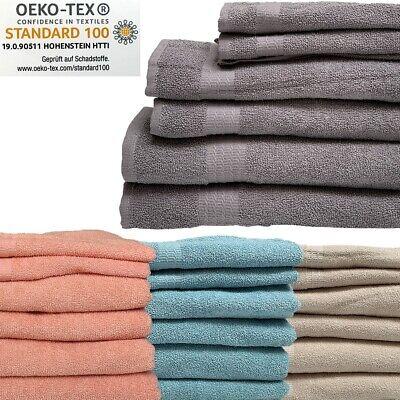 Handtuch 6er SET 2x Duschtuch 2x Handtuch 2x Gästetuch 100% Baumwolle Frottee