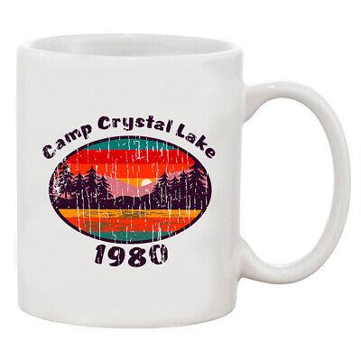 Camp Crystal Lake 1980 Halloween Costume Fan Wear White 11 oz. Coffee Mug