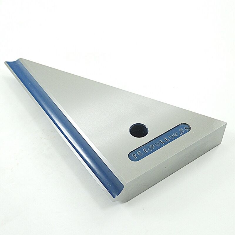 """Beveled Knife Edge Tri Square 30°60°90° Reference Tool Maker Made 7""""x4-1/4""""x 1"""""""