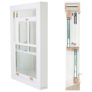 Wood Timber Sliding Box Sash Windows 800 x 1200mm Traditional with cords-weights