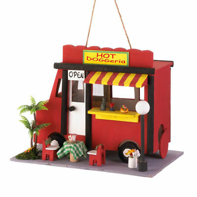 HOT DOG BIRDHOUSE food truck Song Bird Valley NEW in box