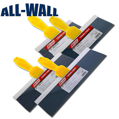 4-piece Wal-board Drywall Wall Board Taping Knife Set Blue Steel 8-10-12-14