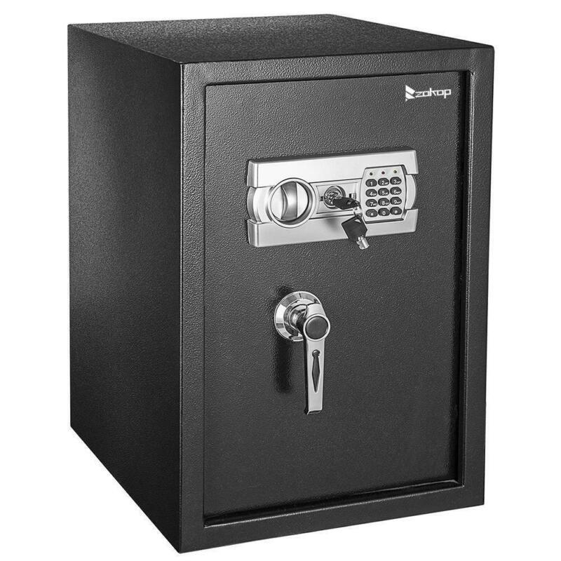 "Zokop Digital 22.4"" Home Security Depository Safety Safe Box Keypad Gun Black"