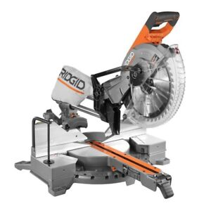 RIGID 12-inch Sliding Mitre Saw with Stand MINT CONDITION
