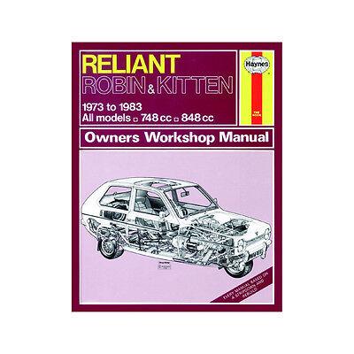Reliant Robin Kitten 748cc 848cc 73-83 (up to A Reg) Haynes Manual
