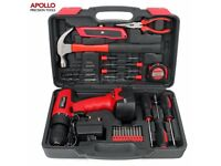 Apollo 26pc Household Cordless Power Drill Tool Kit