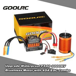 Waterproof F540 3000KV Brushless Motor w/ 45A ESC Combo Set for 1/10 RC Car H1B3