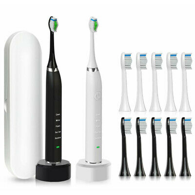 Oral Care Sonic Rechargeable Electric Toothbrush with Free 10 Brush Heads