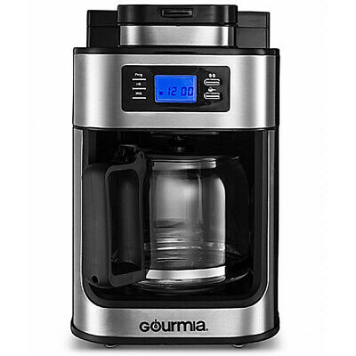 Gourmia Gastronome Stainless Steel Programmable Coffee Maker Machine with Grinder