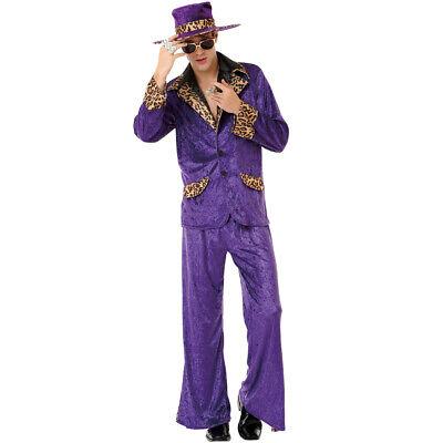 Halloween Pimp Costumes (Honey Hustler Men's Halloween Costume 70's & 80's Big Pimpin' Pimp Daddy)