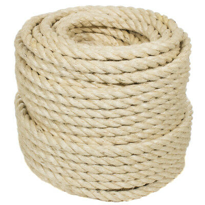 Sisal Rope - All Natural - Golberg - Safe for Cats - Many Diameters & Lengths ()