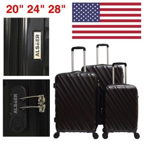 GLOBALWAY 3 Pcs Luggage Travel Set Bag ABS Trolley Suitcase