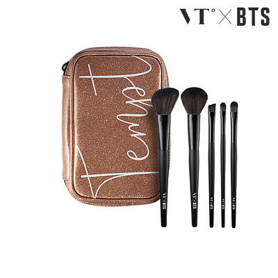 VT x BTS Official Get Ready Make Up Brush Set 5ea + Tracking Number](Track Number Ups)