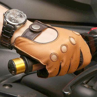 Mens Genuine Deerskin Leather Unlined Driving Gloves more color On Sale #E002 Mens Deerskin Leather