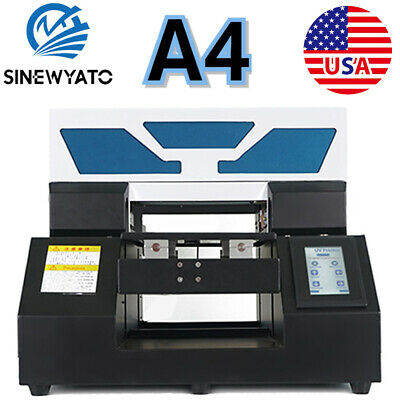 Uv Printer A4 Flatbed Cylindrical Signs Glass Metal 3d Rotation Embossed Us