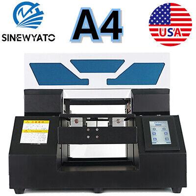 Sinewyato Uv Printer A4 Flatbed Plastic Acrylic Glass Rotation Embossed Printing