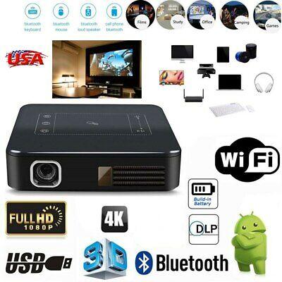 Mini 5000Lumens DLP HD 1080P TOUCH Projector Android Wifi 4K HDMI 16GB Bluetooth