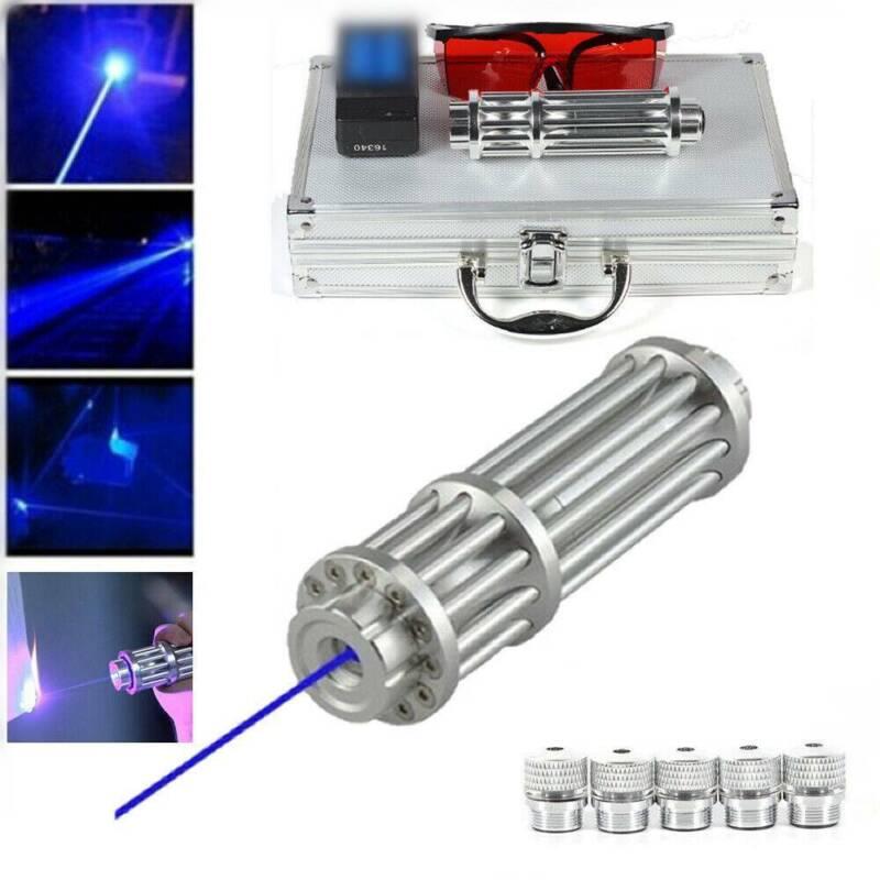 New 450nm Blue Beam Light Lazer Powerful Laser Pointer Milit