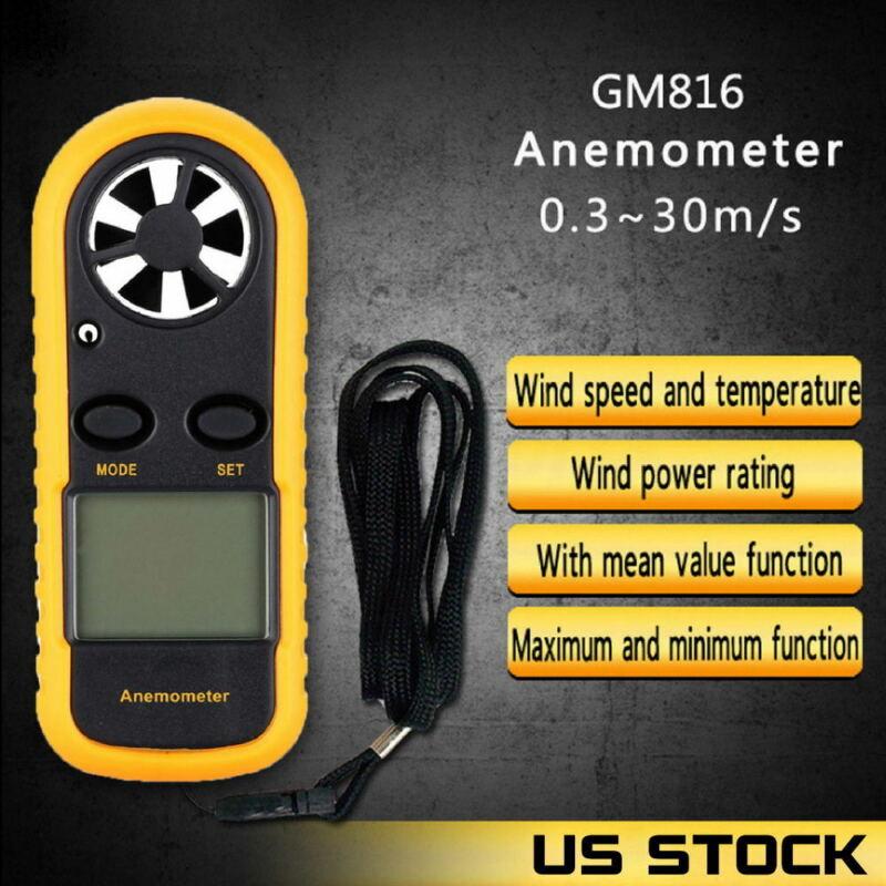 GM816 Digital Anemometer Gauge Wind Speed Tester Ntc Temperature Meter Measure