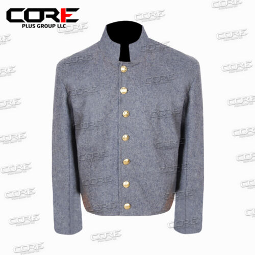 Us Civil War Confederate Untrimmed Grey Wool Shell jacket All Sizes Available!