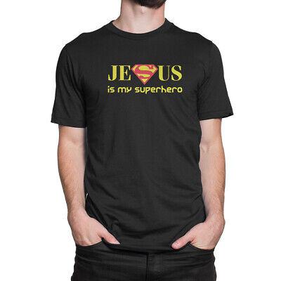 Jesus Is My Superhero Men's T-Shirt S to - Jesus Is My Super Hero