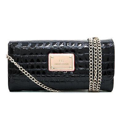 Anais Gvani Women Handbag Croco Faux Leather Clutch Wallet Shoulder Bag