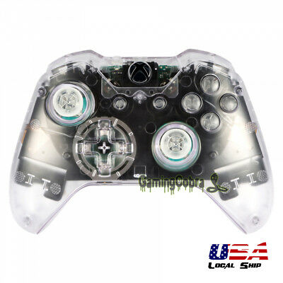 For Xbox One Remote Controller Transparent Full Set Kit Shell Replacement Button