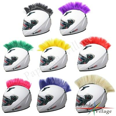 Universal Motorcycle Motorbike Racing Atv Helmet Hawks Colorful Mohawk Headwear