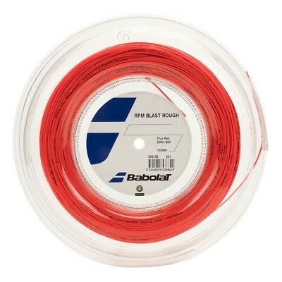Babolat RPM Blast Rough 17G 1.25mm (Fluo Red) 660ft 200m Reel Tennis String for sale  Shipping to Canada